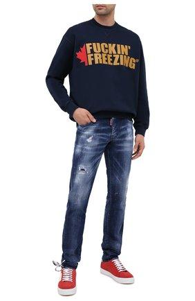 Мужские джинсы DSQUARED2 синего цвета, арт. S74LB0755/S30342 | Фото 2