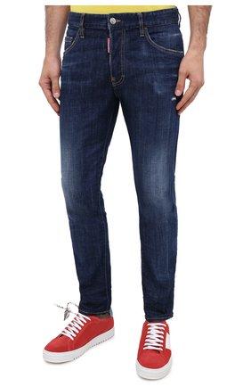 Мужские джинсы DSQUARED2 синего цвета, арт. S74LB0759/S30342 | Фото 3