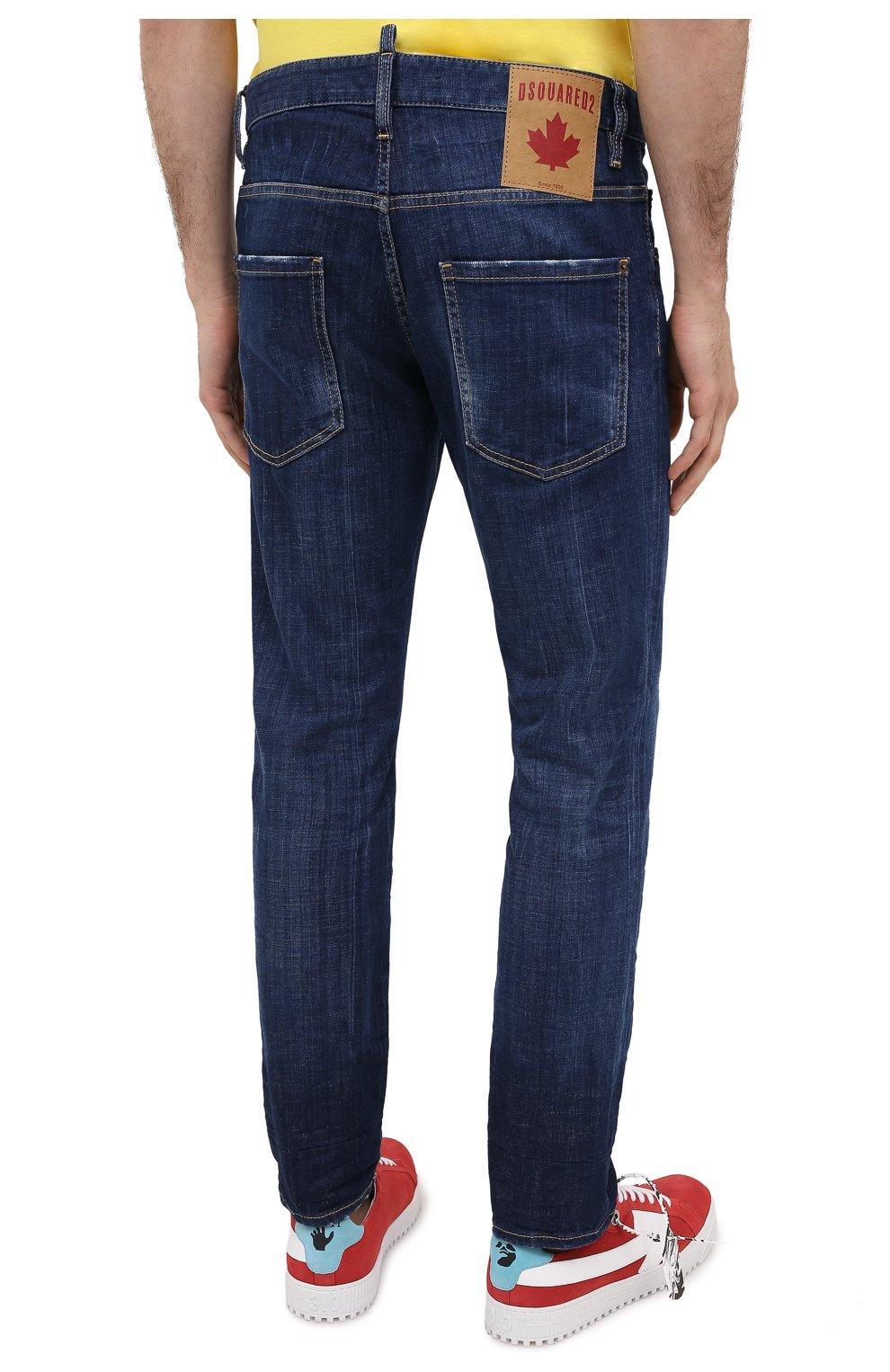 Мужские джинсы DSQUARED2 синего цвета, арт. S74LB0759/S30342 | Фото 4