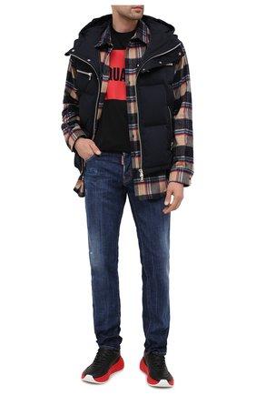 Мужские джинсы DSQUARED2 синего цвета, арт. S74LB0761/S30342 | Фото 2