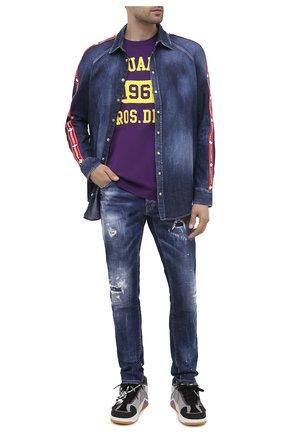 Мужские джинсы DSQUARED2 синего цвета, арт. S74LB0763/S30342 | Фото 2