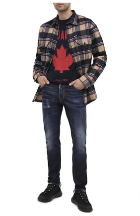 Мужские джинсы DSQUARED2 синего цвета, арт. S74LB0766/S30664 | Фото 2