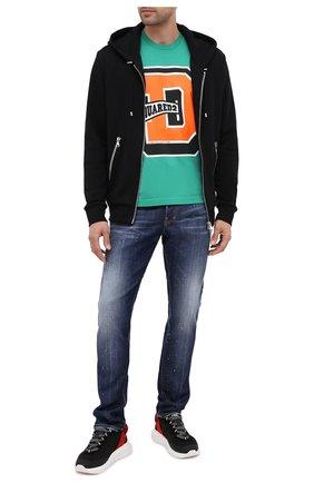 Мужские джинсы DSQUARED2 синего цвета, арт. S74LB0769/S30342 | Фото 2