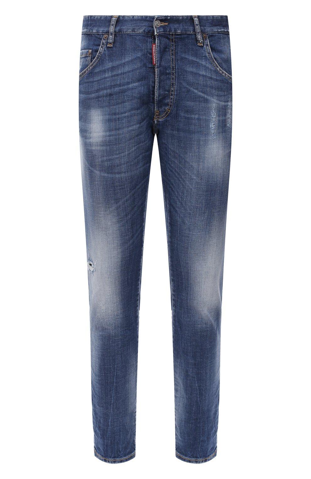 Мужские джинсы DSQUARED2 синего цвета, арт. S74LB0791/S30342 | Фото 1