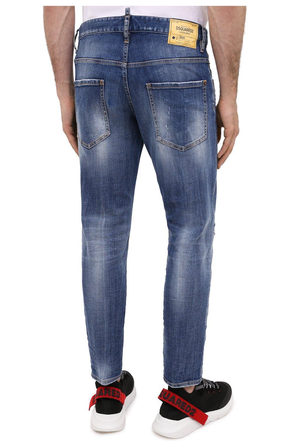 Мужские джинсы DSQUARED2 синего цвета, арт. S74LB0791/S30342 | Фото 4