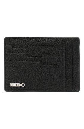 Мужской кожаный футляр для кредитных карт ZILLI черного цвета, арт. MJL-0WC03-18050/0001 | Фото 1