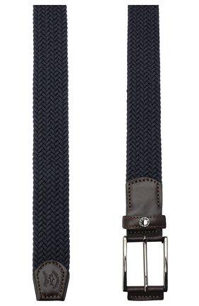 Мужской ремень PAUL&SHARK темно-синего цвета, арт. I20P6001/H51 | Фото 2