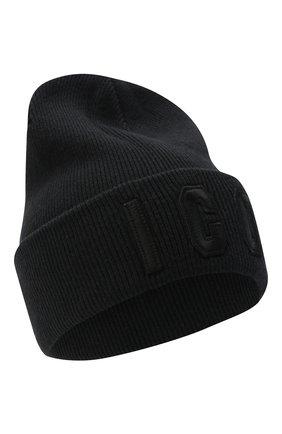 Мужская шерстяная шапка icon DSQUARED2 черного цвета, арт. KNM0001 13620001 | Фото 1
