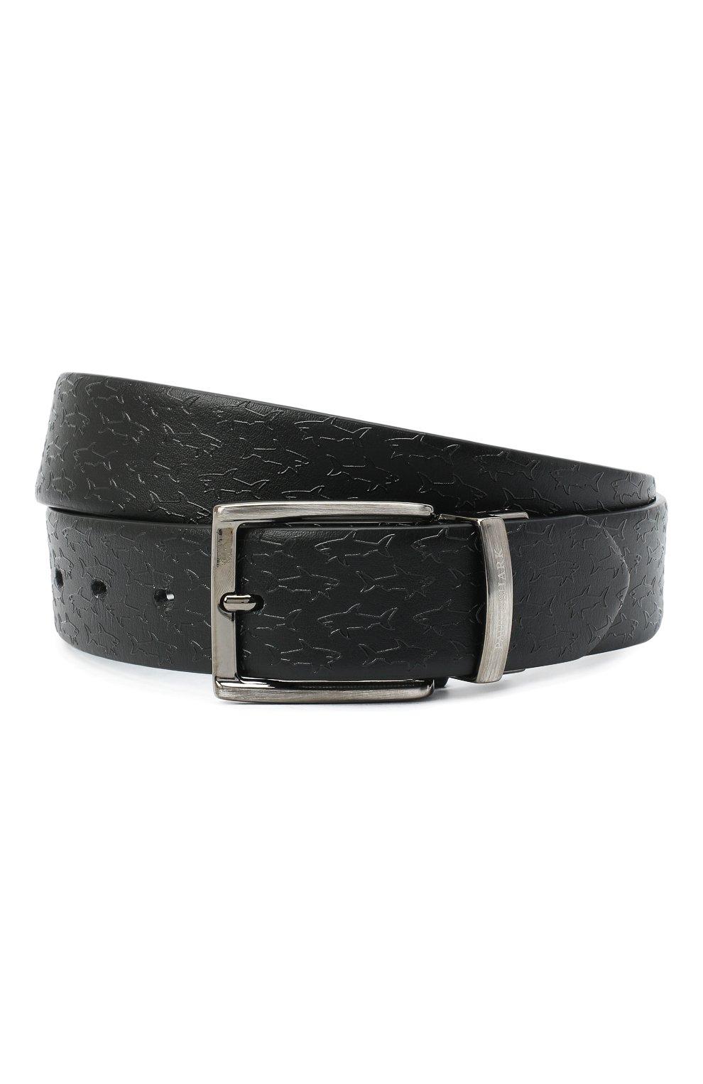 Мужской кожаный ремень PAUL&SHARK черного цвета, арт. I20P6010/HEG | Фото 1