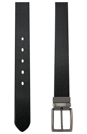 Мужской кожаный ремень PAUL&SHARK черного цвета, арт. I20P6010/HEG | Фото 2