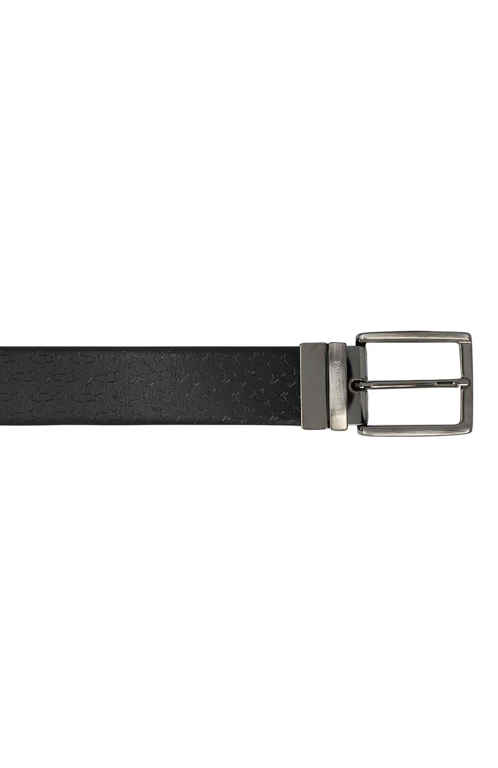 Мужской кожаный ремень PAUL&SHARK черного цвета, арт. I20P6010/HEG | Фото 3