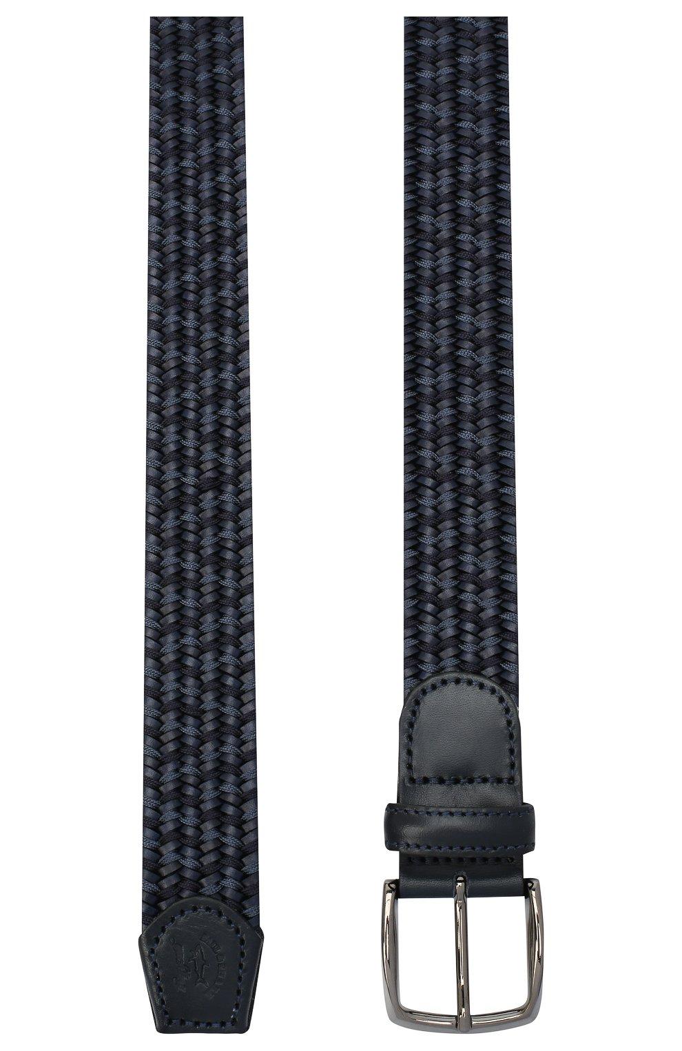Мужской комбинированный ремень PAUL&SHARK темно-синего цвета, арт. I20P6037/HVD | Фото 2