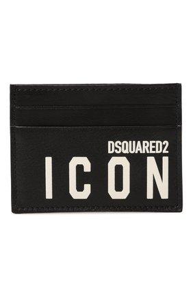 Мужской кожаный футляр для кредитных карт icon DSQUARED2 черно-белого цвета, арт. CCM0005 12903205 | Фото 1