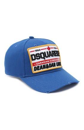 Мужской хлопковая бейсболка DSQUARED2 синего цвета, арт. BCM0355 05C00001 | Фото 1