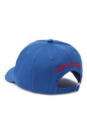 Мужской хлопковая бейсболка DSQUARED2 синего цвета, арт. BCM0355 05C00001 | Фото 2