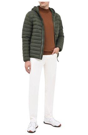 Мужская пуховая куртка STONE ISLAND темно-зеленого цвета, арт. 731541125 | Фото 2