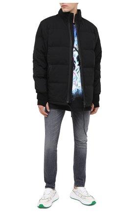 Мужская пуховая куртка KENZO черного цвета, арт. FA650U1281NI   Фото 2