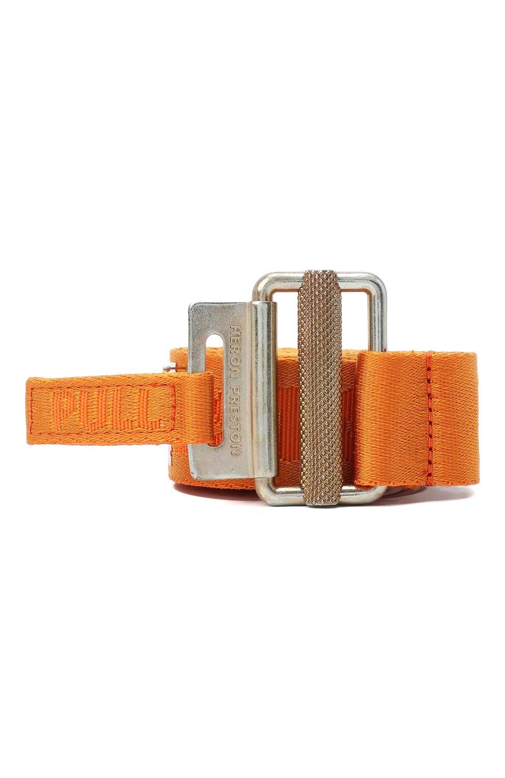 Мужской текстильный ремень HERON PRESTON оранжевого цвета, арт. HMRB007F20MAT0012276   Фото 1