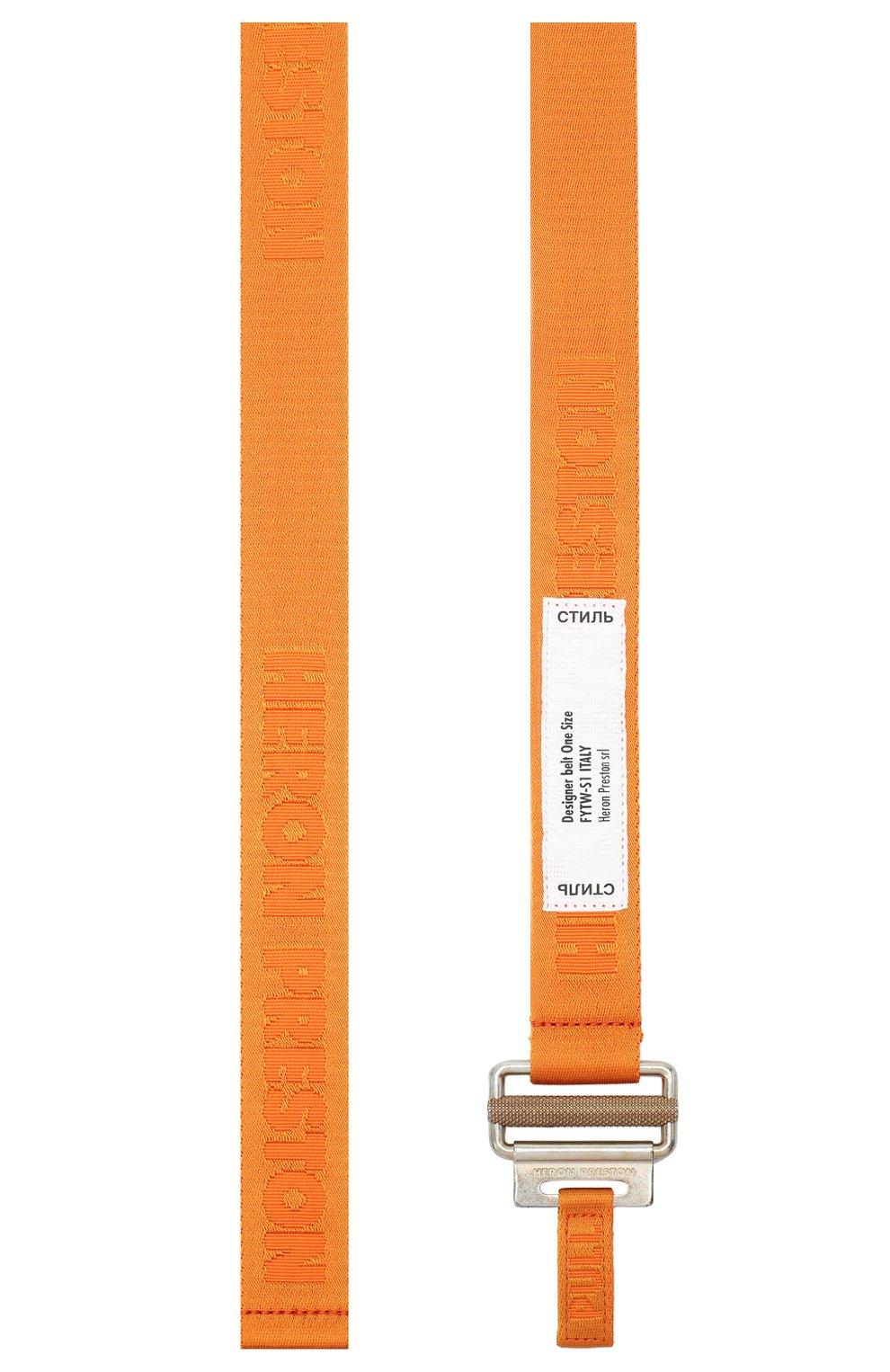 Мужской текстильный ремень HERON PRESTON оранжевого цвета, арт. HMRB007F20MAT0012276   Фото 2