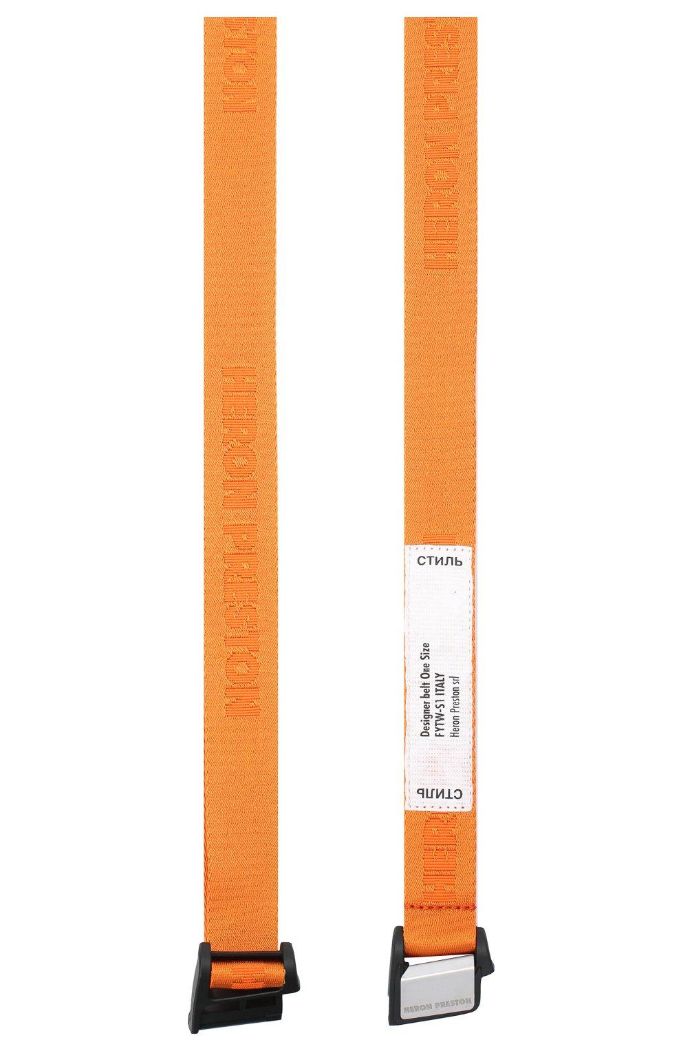 Мужской текстильный ремень HERON PRESTON оранжевого цвета, арт. HMRB013F20MAT0012200 | Фото 2