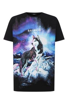 Мужская хлопковая футболка BALMAIN разноцветного цвета, арт. UH11060/I310 | Фото 1