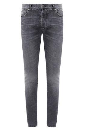 Мужские джинсы BALMAIN темно-серого цвета, арт. UH15230/Z111   Фото 1