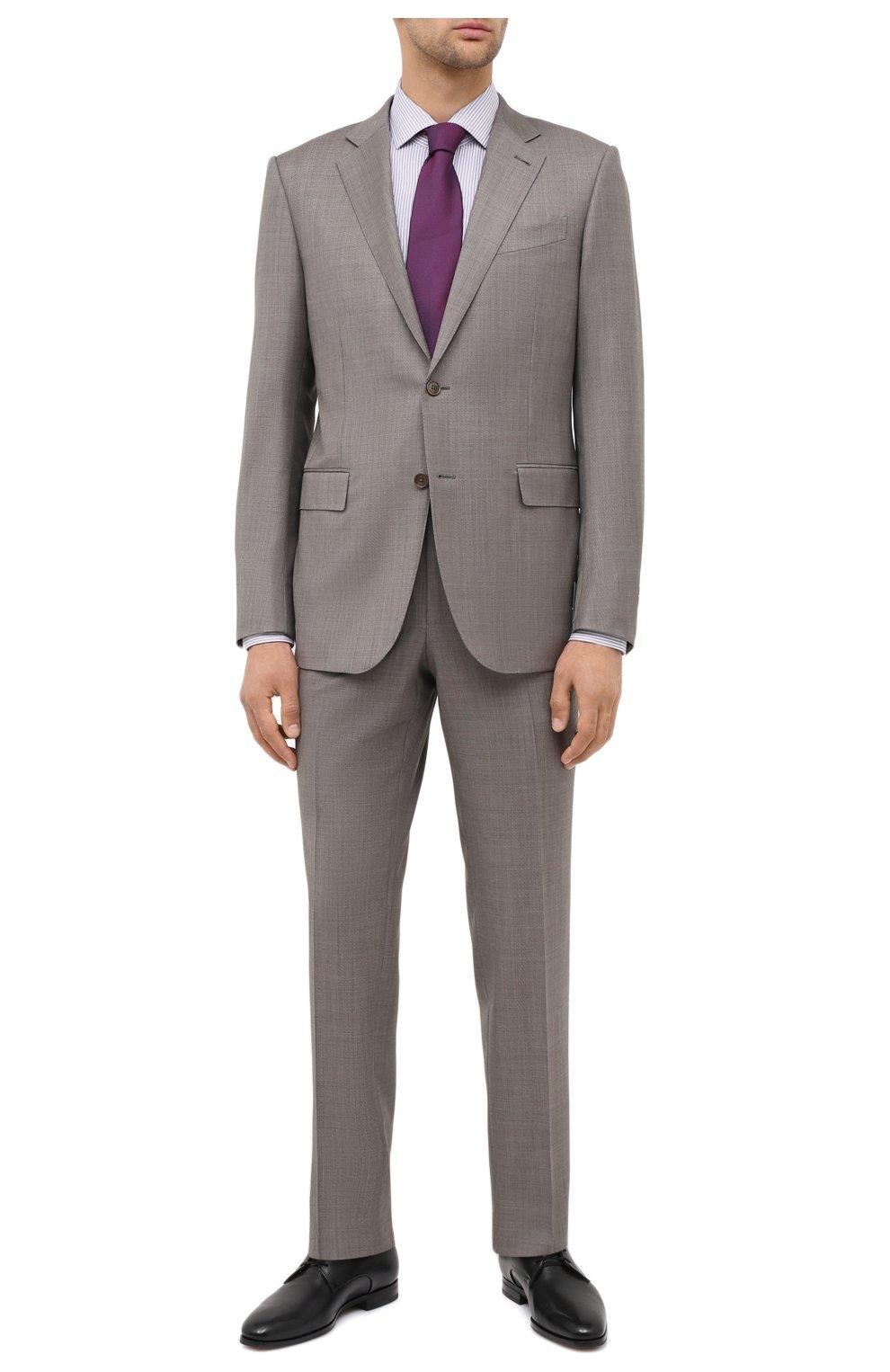 Мужская сорочка BOSS сиреневого цвета, арт. 50440215 | Фото 2