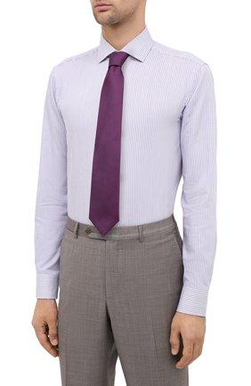Мужская сорочка BOSS сиреневого цвета, арт. 50440215 | Фото 4