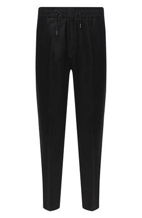 Мужской шерстяные брюки HUGO черного цвета, арт. 50439998   Фото 1