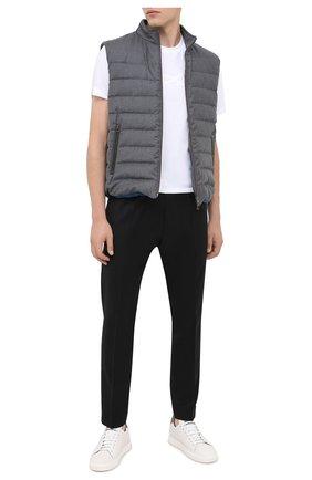 Мужской шерстяные брюки HUGO черного цвета, арт. 50439998   Фото 2