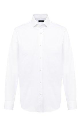 Мужская хлопковая сорочка BOSS белого цвета, арт. 50439512 | Фото 1