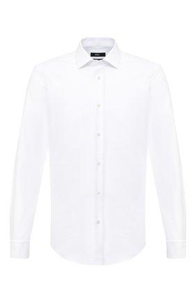 Мужская хлопковая сорочка BOSS белого цвета, арт. 50439503 | Фото 1