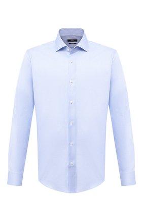 Мужская хлопковая сорочка BOSS голубого цвета, арт. 50439521 | Фото 1