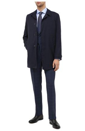 Мужская хлопковая сорочка BOSS голубого цвета, арт. 50439521 | Фото 2
