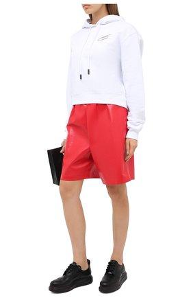 Женская кожаные дерби ALEXANDER MCQUEEN черного цвета, арт. 586400/WHX51   Фото 2
