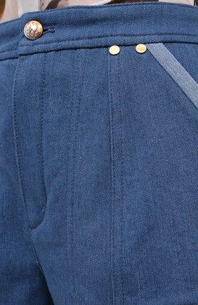 Женские джинсовые шорты CHLOÉ голубого цвета, арт. CHC20ADS05153 | Фото 6 (Женское Кросс-КТ: Шорты-одежда; Кросс-КТ: Деним; Длина Ж (юбки, платья, шорты): Мини; Материал внешний: Хлопок; Стили: Кэжуэл)