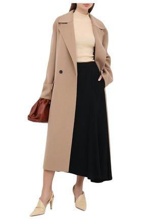 Женские кожаные туфли bv point BOTTEGA VENETA светло-бежевого цвета, арт. 630183/VBP10 | Фото 2