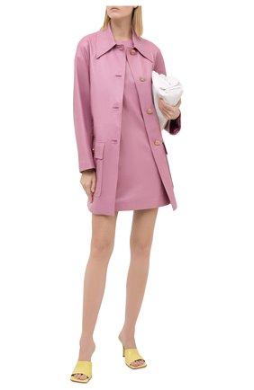 Женское кожаное платье GUCCI фиолетового цвета, арт. 624447/XNAEX | Фото 2