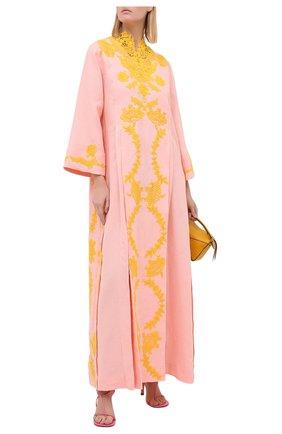 Женская льняная туника GUCCI светло-розового цвета, арт. 599381/XDA0N   Фото 2