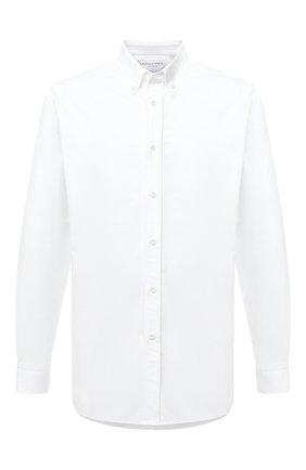 Мужская хлопковая рубашка BOTTEGA VENETA белого цвета, арт. 627781/VKU90 | Фото 1