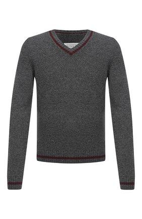Мужской шерстяной свитер MAISON MARGIELA серого цвета, арт. S50GP0224/S17374   Фото 1