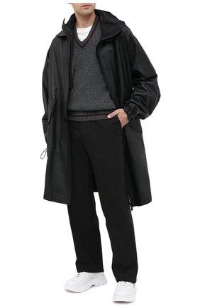 Мужской шерстяной свитер MAISON MARGIELA серого цвета, арт. S50GP0224/S17374   Фото 2