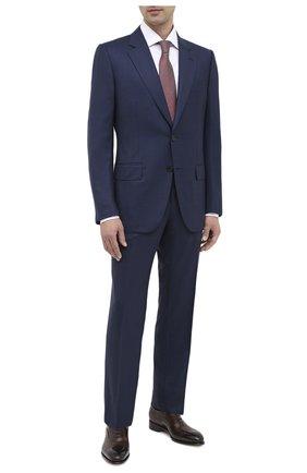 Мужской шерстяной костюм ZEGNA COUTURE темно-синего цвета, арт. 822N05/21L2N5 | Фото 1