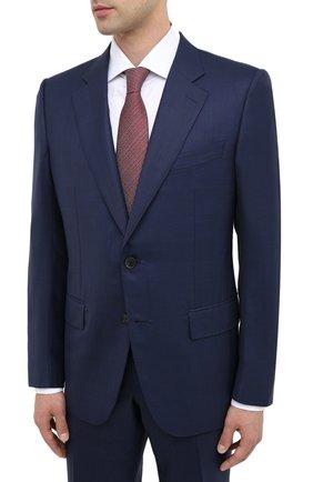 Мужской шерстяной костюм ZEGNA COUTURE темно-синего цвета, арт. 822N05/21L2N5 | Фото 2