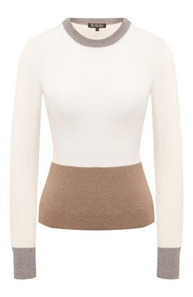 Женский кашемировый пуловер LORO PIANA кремвого цвета, арт. FAL2055 | Фото 1