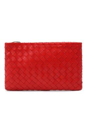 Женские кожаный футляр для документов BOTTEGA VENETA красного цвета, арт. 608232/VA962   Фото 1