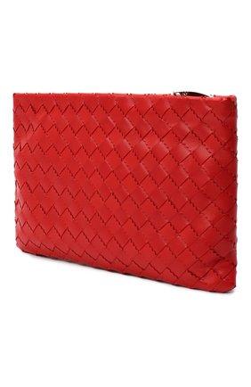 Женские кожаный футляр для документов BOTTEGA VENETA красного цвета, арт. 608232/VA962   Фото 2