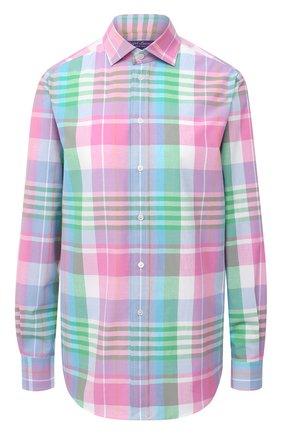 Женская хлопковая рубашка RALPH LAUREN разноцветного цвета, арт. 290797831 | Фото 1