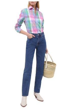 Женская хлопковая рубашка RALPH LAUREN разноцветного цвета, арт. 290797831 | Фото 2