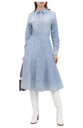 Женское хлопковое платье RALPH LAUREN синего цвета, арт. 290813129 | Фото 2